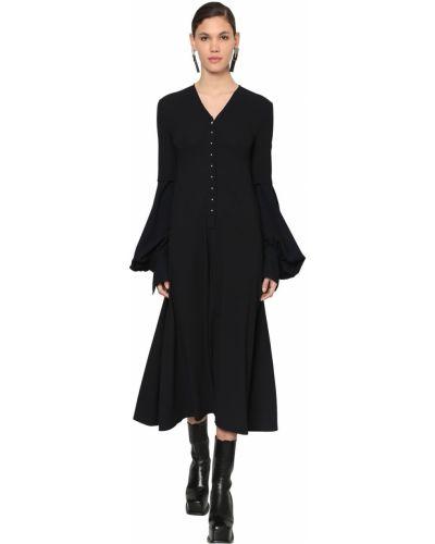 Платье миди на пуговицах с V-образным вырезом Loewe