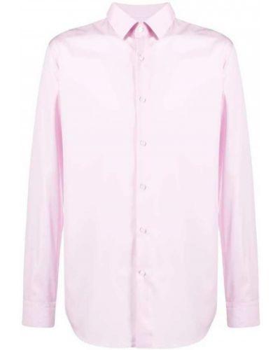 Różowa koszula bawełniana z długimi rękawami Hugo Boss