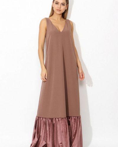 Коричневое платье весеннее Tutto Bene