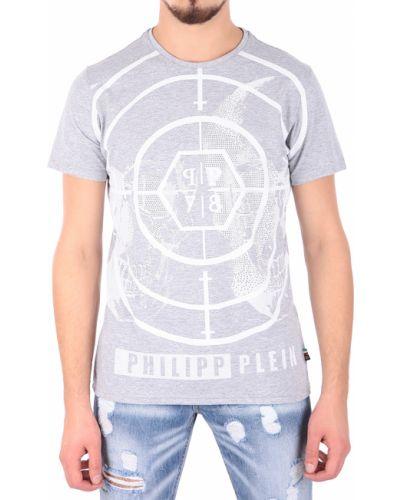 Серая футболка Philipp Plein