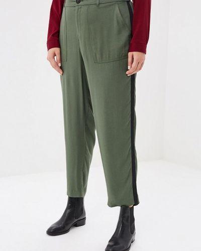 Зеленые брюки повседневные Violeta By Mango