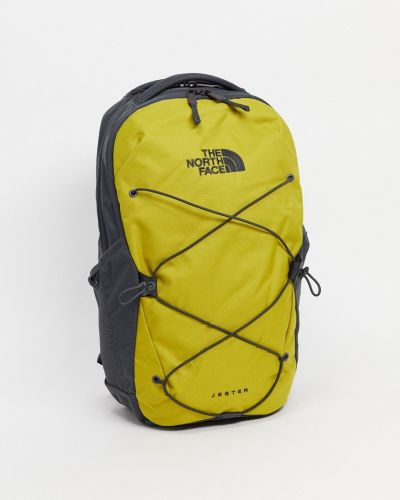Zielony plecak na laptopa z haftem The North Face