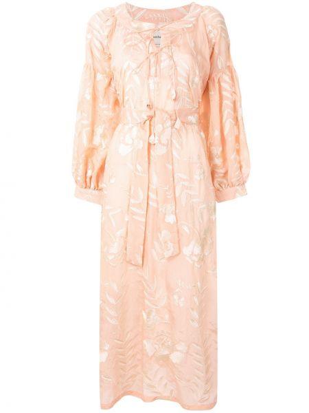Платье с поясом с цветочным принтом на шнуровке Bambah