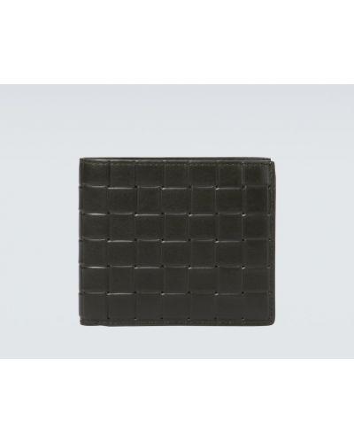 Серебряный кожаный кошелек для монет со шлицей Bottega Veneta