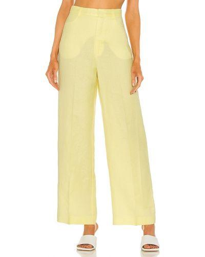 Желтые палаццо до середины колена с карманами Bardot