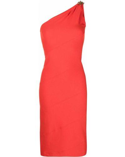 Sukienka z wiskozy - pomarańczowa Givenchy