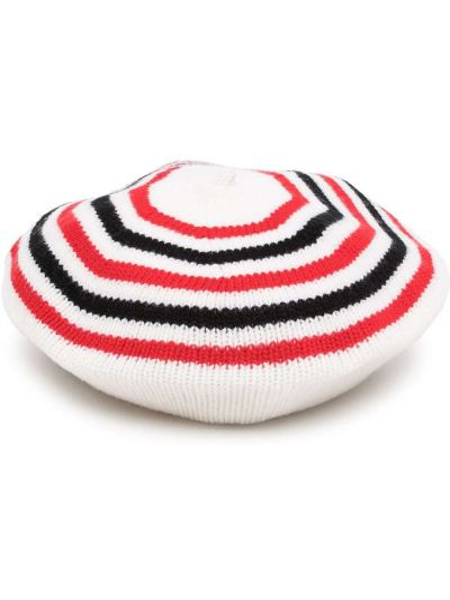 Biały beret wełniany Sonia Rykiel