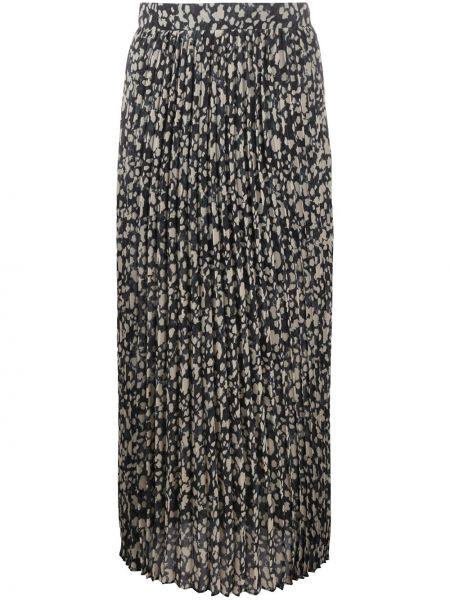 Бежевая с завышенной талией плиссированная юбка Ba&sh