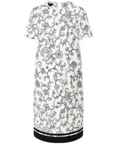 Белое хлопковое платье Escada
