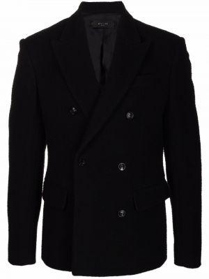 Черный шерстяной пиджак Amiri