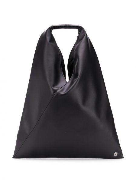 Torba na ramię czarna z łatami Mm6 Maison Margiela