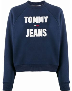 Топ с вышивкой синий Tommy Jeans