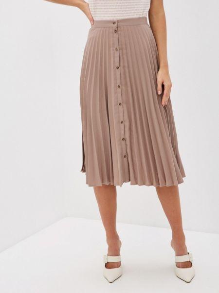 Плиссированная юбка бежевый весенняя Zarina
