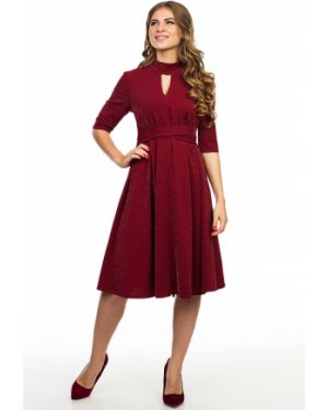 Вечернее платье бордовый миди Kapsula