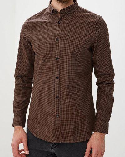 Коричневая рубашка с длинным рукавом Warren Webber