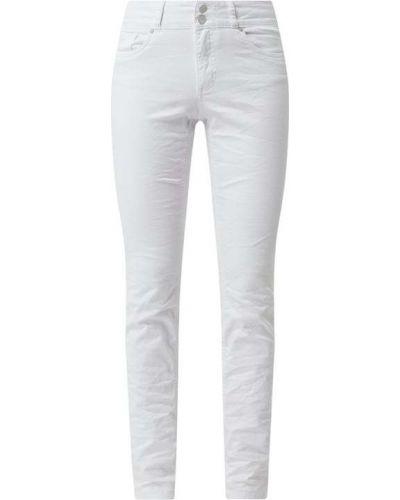 Białe jeansy zapinane na guziki bawełniane Buena Vista