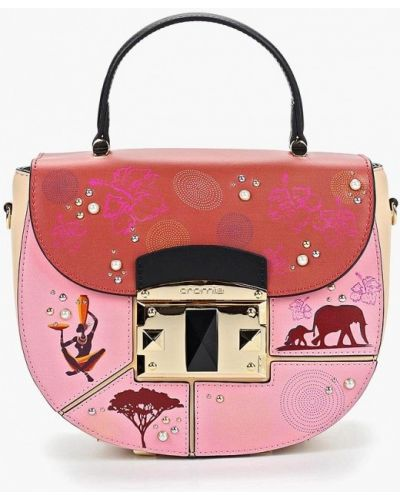 Кожаный сумка через плечо розовый Cromia