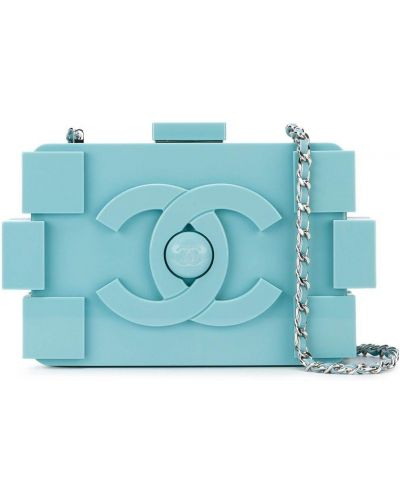 Kopertówka srebrna - niebieska Chanel Pre-owned