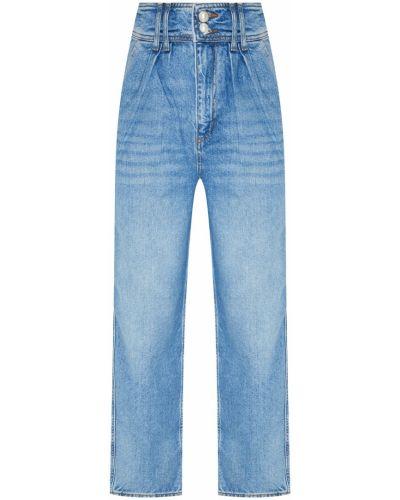 Прямые джинсы синие на пуговицах Sandro