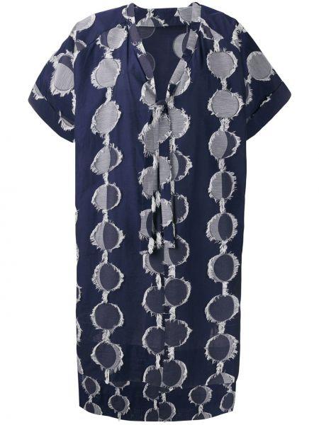Платье мини с разрезами по бокам с V-образным вырезом Henrik Vibskov