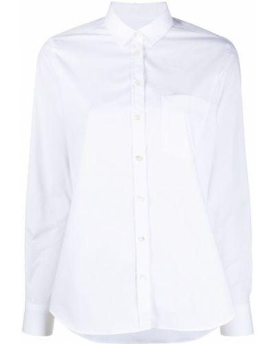 Хлопковая белая классическая рубашка с воротником Closed