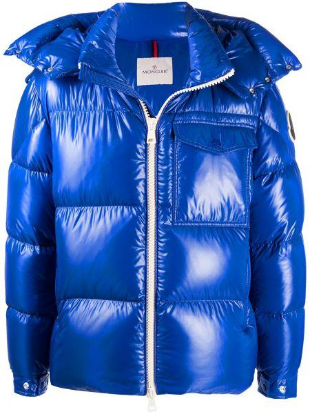 Puchaty niebieski kurtka Moncler