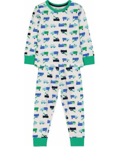 Пижама белая зеленый Mothercare