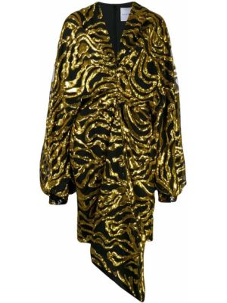 Czarna sukienka asymetryczna tiulowa Halpern
