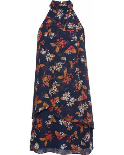 Коктейльное платье с цветочным принтом с воротником Bonprix