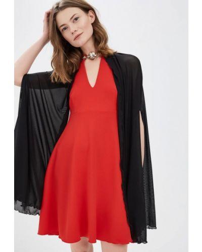 Коктейльное платье красный Sk-house