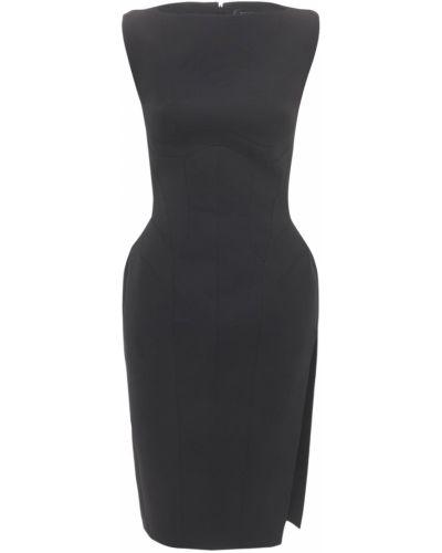 Платье миди - черное Mugler
