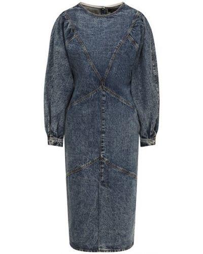 Хлопковое синее джинсовое платье Isabel Marant
