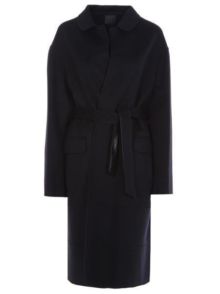 Кашемировое пальто - черное Agnona