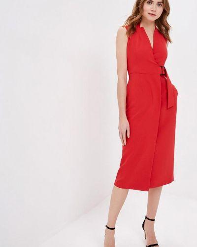 Платье весеннее красный Zarina