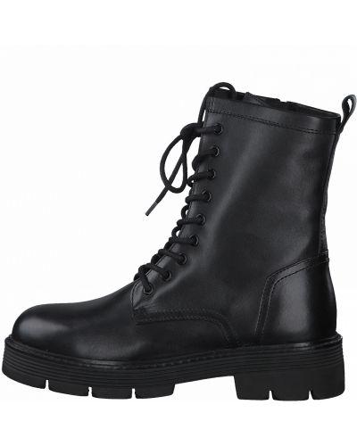 Шерстяные ботинки - черные Marco Tozzi