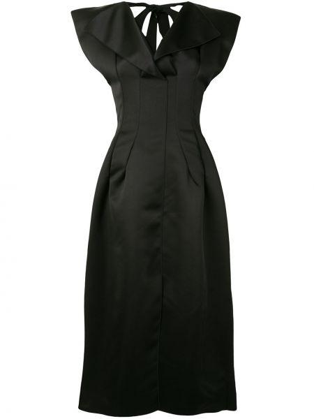 Черное платье с вырезом Maison Rabih Kayrouz