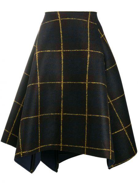 Акриловая коричневая асимметричная юбка Stefano Mortari