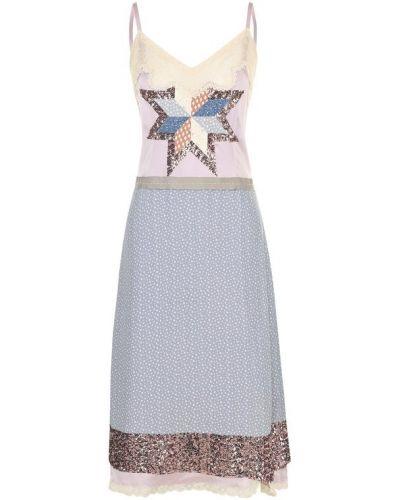 Платье миди с пайетками с вышивкой Coach
