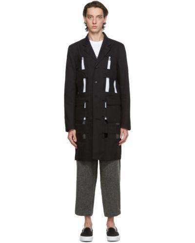 Czarny płaszcz bawełniany z długimi rękawami Comme Des Garcons Shirt