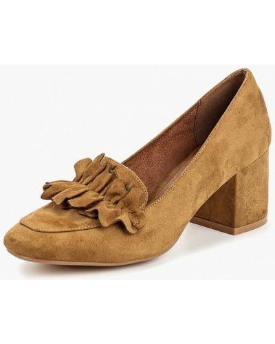 Туфли на каблуке замшевые осенние Corina