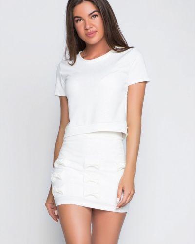 Белая юбка облегающая Gepur
