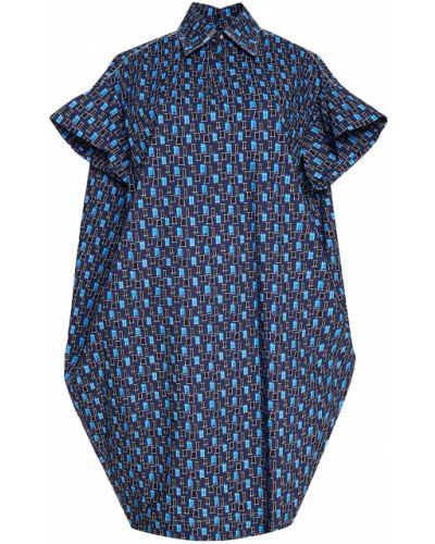 Платье мини платье-рубашка кокон Marni