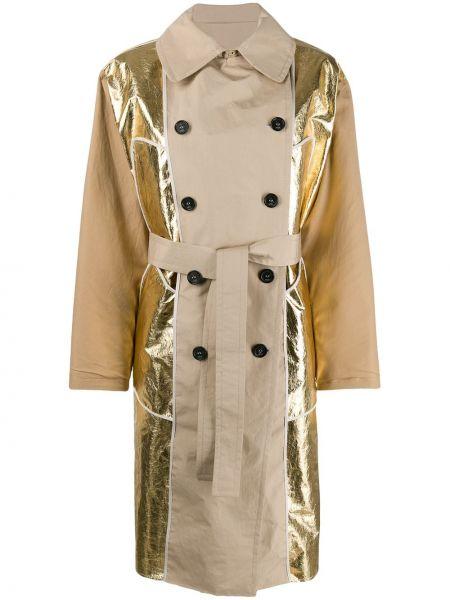 Длинное пальто с карманами двубортный с воротником N°21