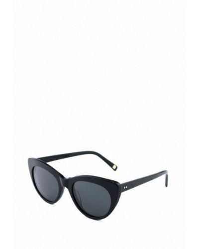 Солнцезащитные очки кошачий глаз черные Luckylook