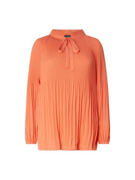 Satynowa różowa bluzka rozkloszowana Lauren Ralph Lauren Curve