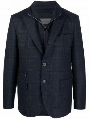 Синий пиджак в клетку Corneliani