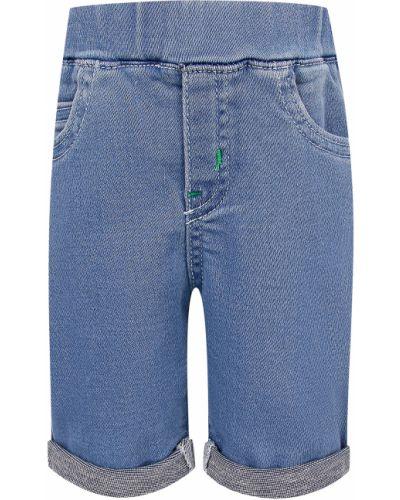 Хлопковые синие шорты Armani Junior