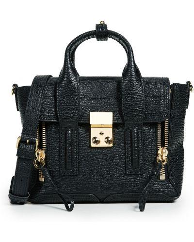 Черный кожаный ранец с карманами 3.1 Phillip Lim