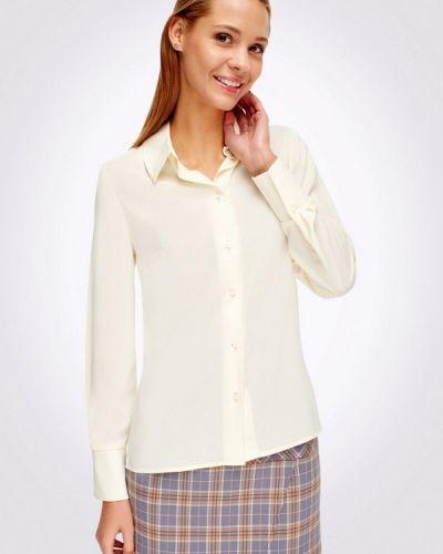Белая блузка с длинным рукавом Cat Orange