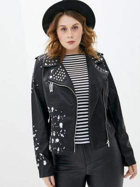 Кожаная куртка весенняя черная Studio Untold